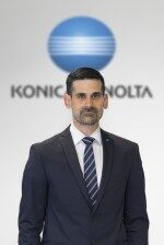 Edoardo Cotichini, chef d'équipe impression industrielle, Konica Minolta