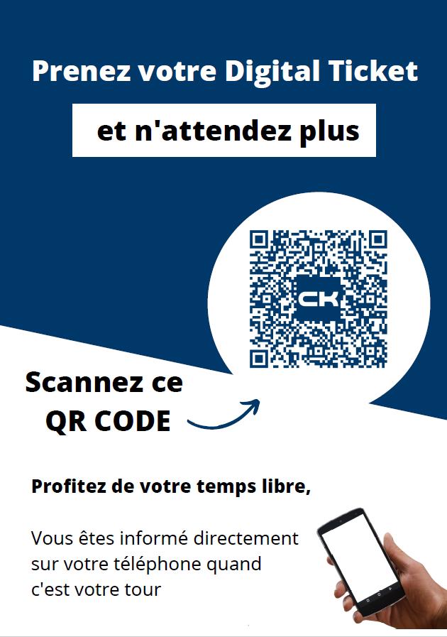 Ticket digital - CK avec QR CODE