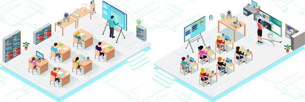 digitalisation des salles de classes - école numérique